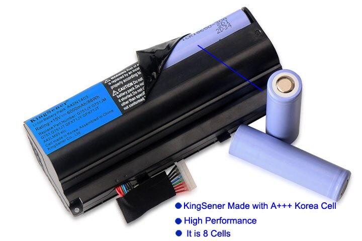 KingSener Corée Cellulaire A42N1403 Batterie D'ordinateur Portable pour ASUS ROG G751 G751JY G751JM G751JT GFX71JY GFX71JT A42LM9H A42LM93 4ICR19/66 -2 - 2