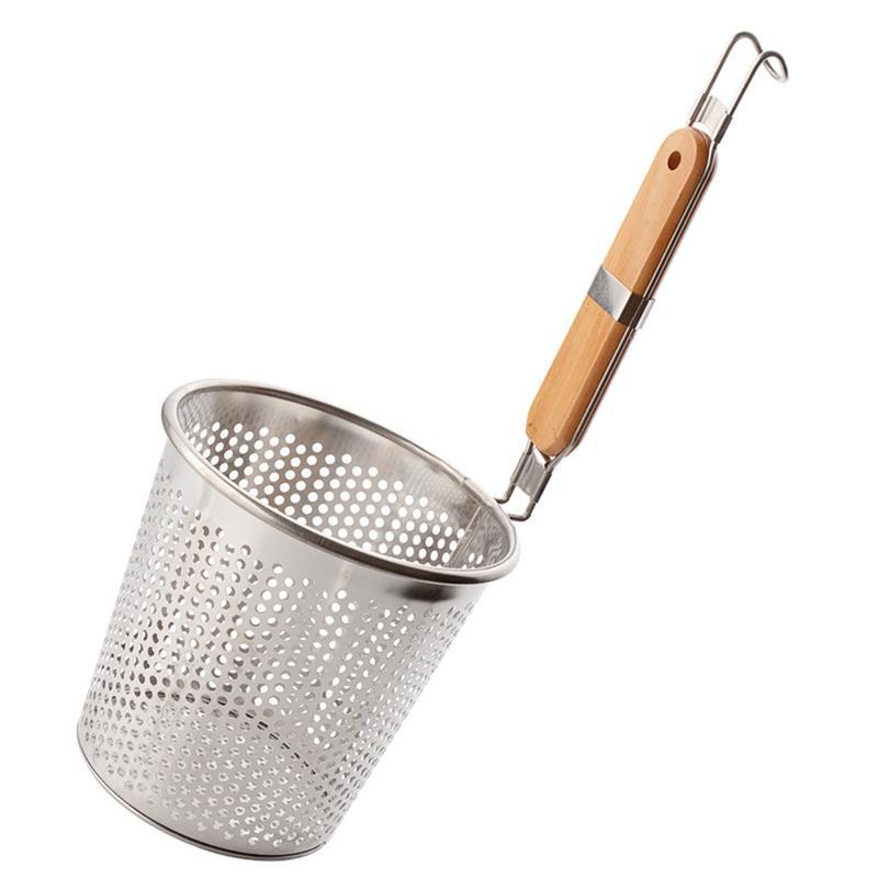 Colander Mesh Strainer Steel Stainless Sieve 24cm Pasta Drainer Handle Spaghetti
