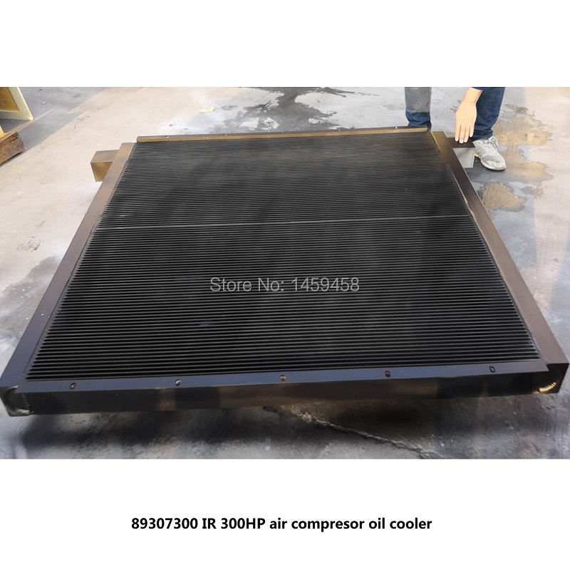 Free shipping OEM 89307300 for MM200-250 screw air compresor black plate fin aluminum after cooler oil cooler
