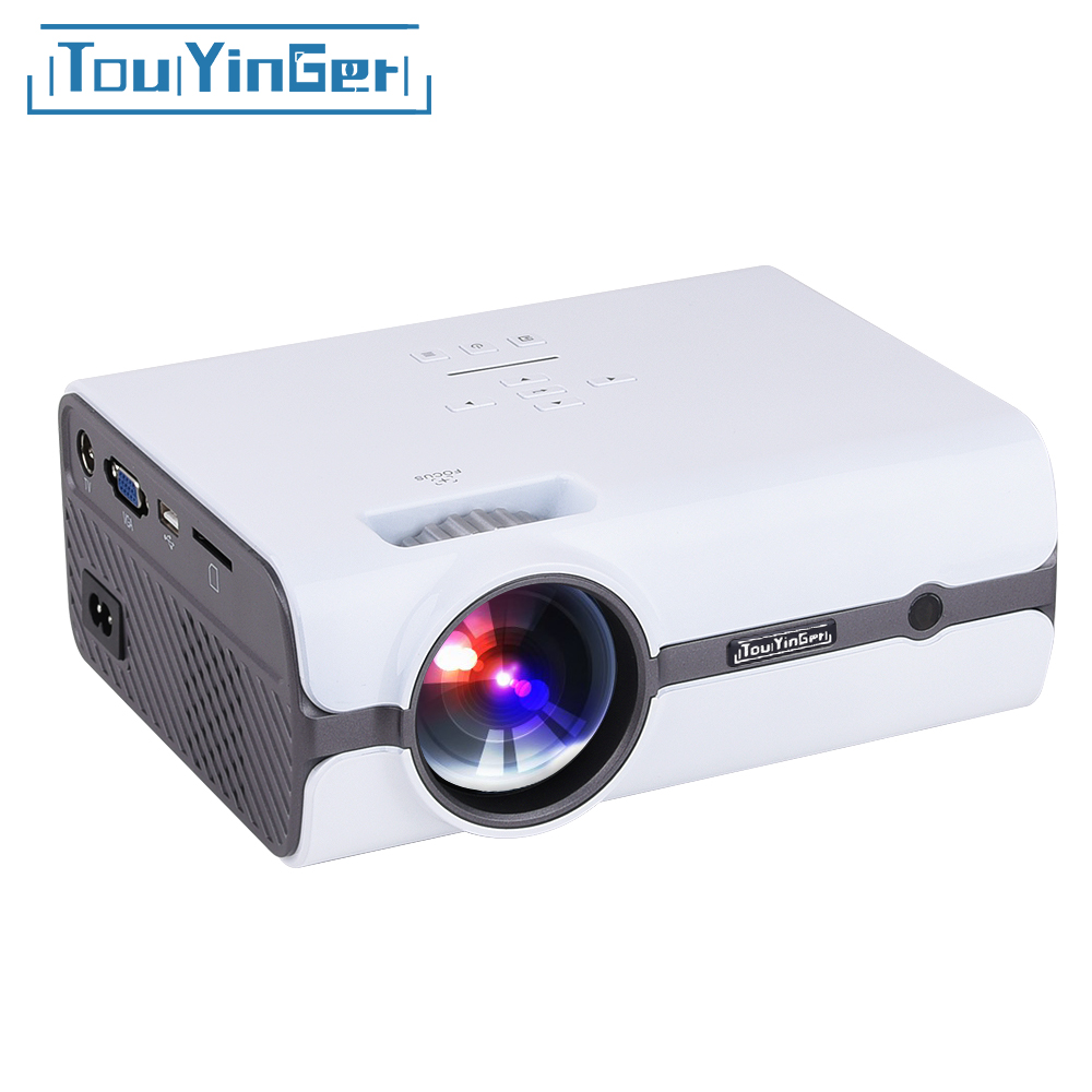 Touyinger T3 Mini LED Projektor 1280*800 TV 1080 P video (Android 7.0 version unterstützung 4 K wifi) HDMI LCD Heimkino Beamer USB