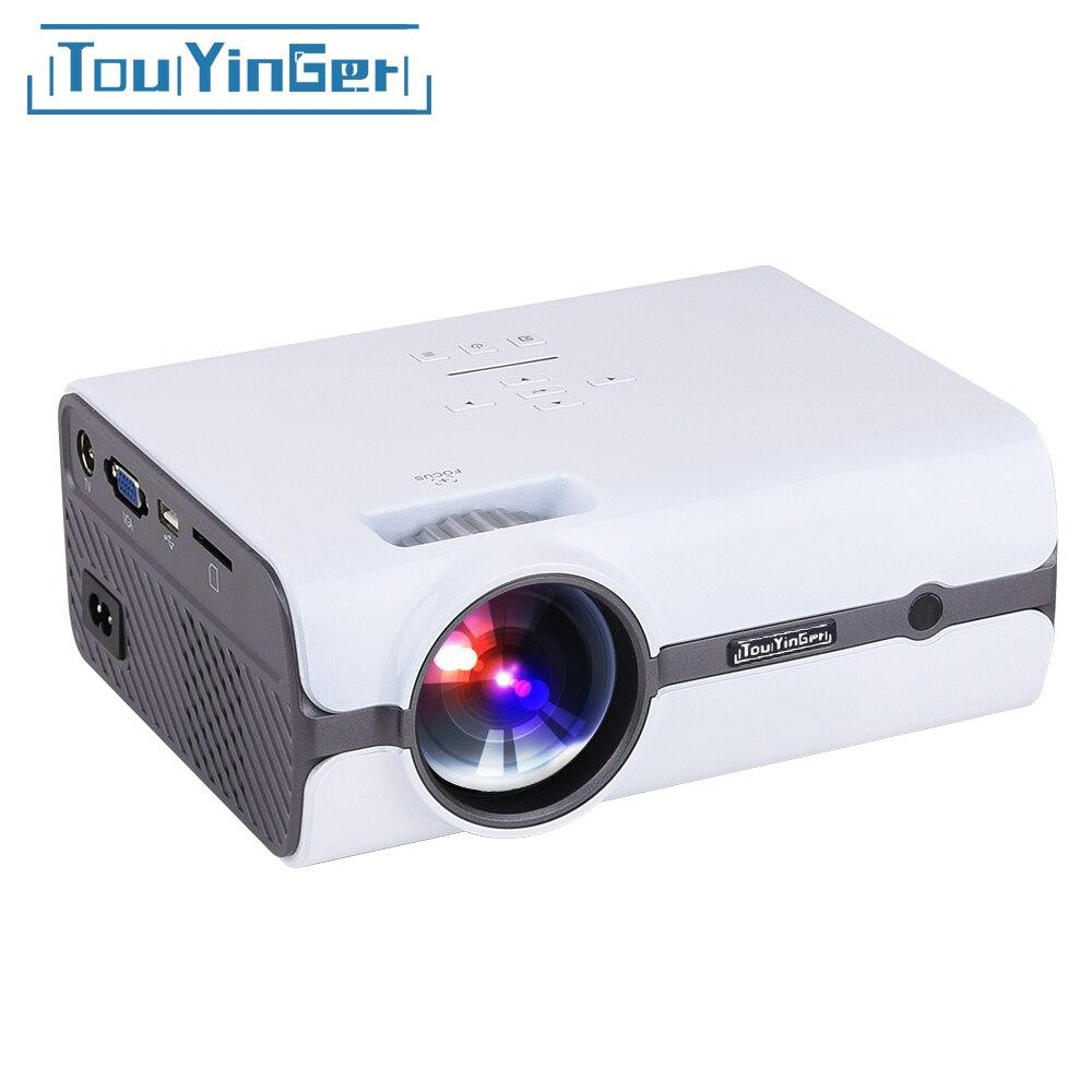 Touyinger T3 Mini HA CONDOTTO il Proiettore 1280*800 TV 1080 P video (Android versione 7.0 il supporto 4 K wifi) HDMI LCD Home Theater Beamer USB