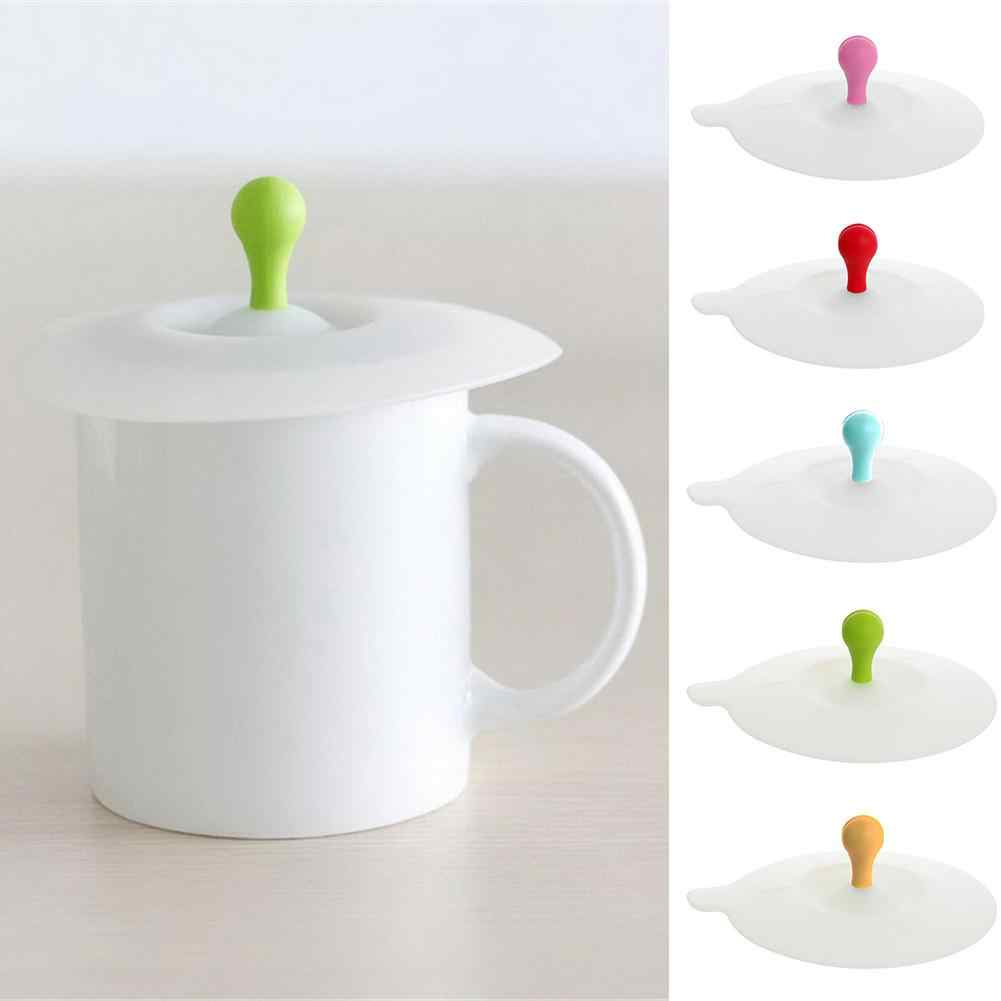 1 Pieces Cute Heart-shaped Can Clip Spoon Cup Lid 10.5 cm Silicone Seal Dust-proof Cover For Glass Ceramic Plastic Mug
