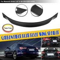 Carbon Fiber for Ghibli Spoiler Rear Roof Wing Car Tuning Racing Bootlid Fit For Maserati for Ghibli 3.0T S Q4 2014 2015 2016