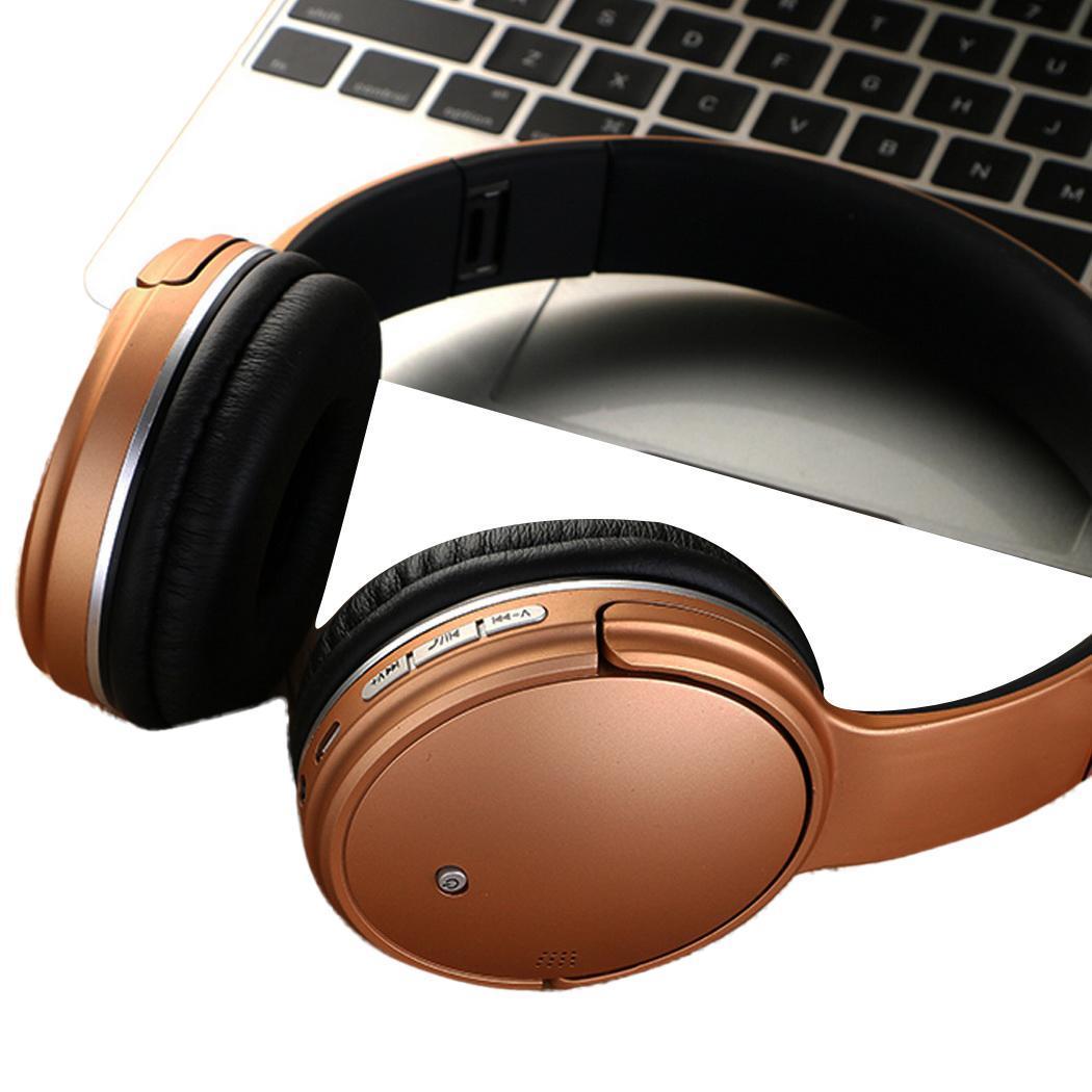 Wireless Bluetooth Headphones Stereo Headset TF V5.0 Card FM Radio 70db 200mAH Lithium Battery With Mic