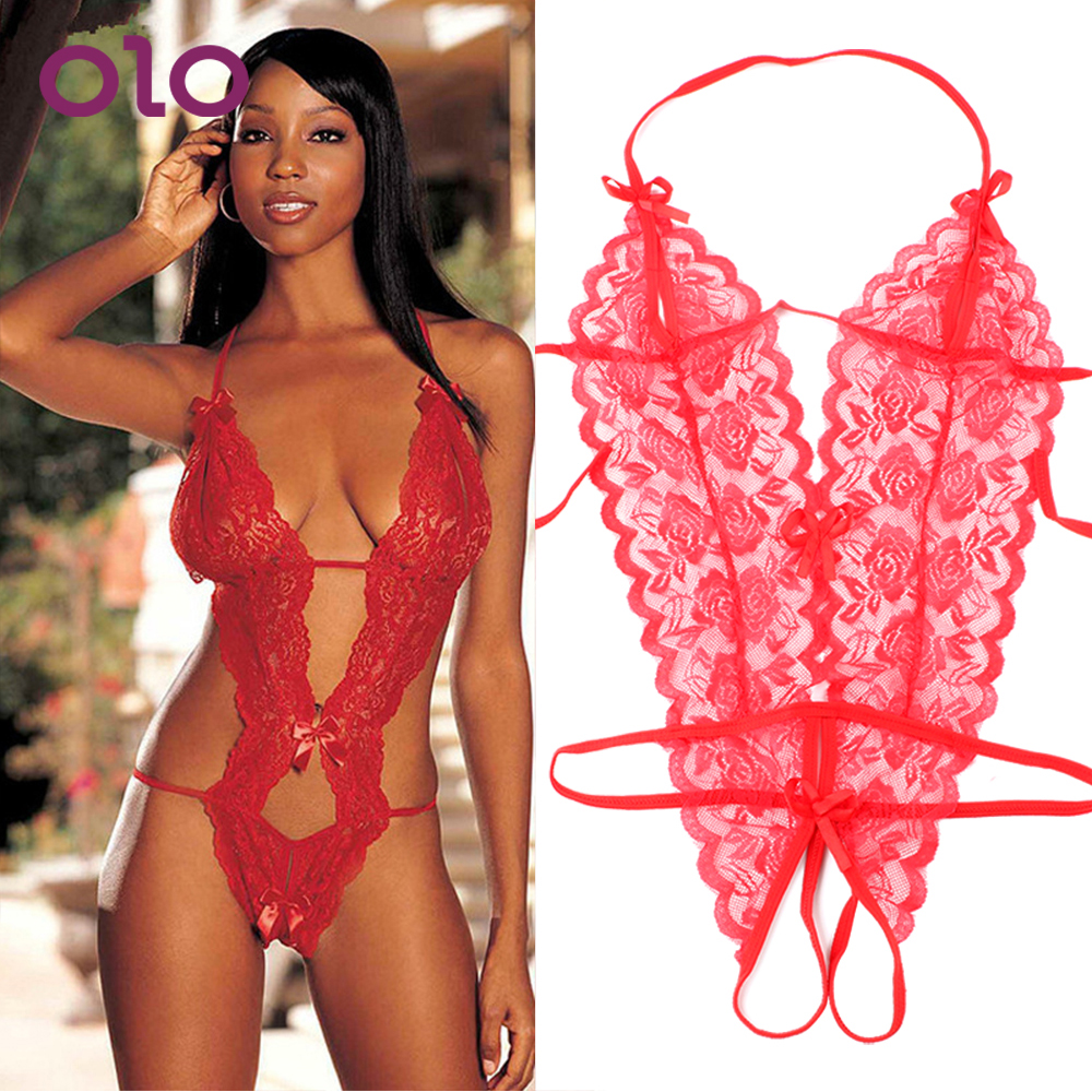 OLO Sexy Costumes G-string Sexy Lingerie Lace Siamese Perspective Three-Point Underwear Erotic Lingerie Adult Products