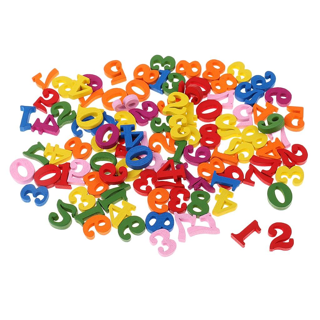Magideal colorido 100 peças de madeira números para crianças crianças matemática aprendizagem brinquedos educativos ferramenta ensino da escola do jardim de infância