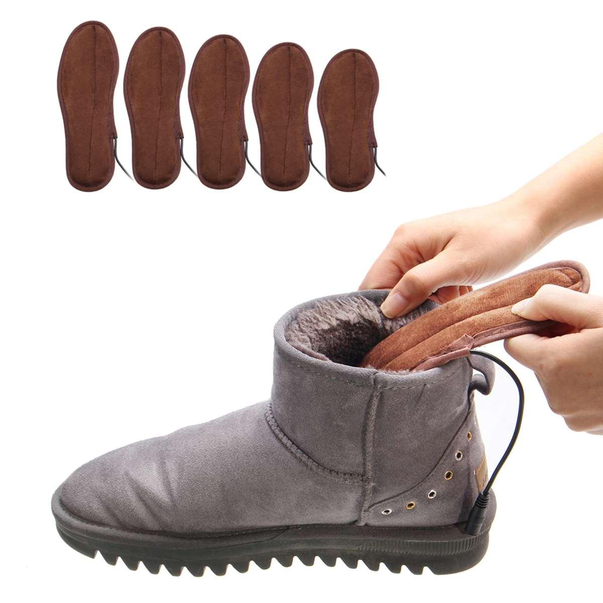 USB Electric Heated Insoles Soles Foot Warmer Heat Boots Shoes Pad Winter  Soft Fleece Heating Pad for Men Women-in Electric Heating Pads from Home    Garden ... 018daec4c4d3