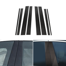 6PCS Car Real Carbon Fiber Window B-pillar Molding Cover Trim For Mercedes Benz GLK Class 2008 2009 2010 2011 2012 2013 стоимость