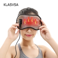 KLASVSA Electric Heating Tourmaline Eye Massager Far Infrared Negative Anion Eyes Facial Germanium Massage Mask Home Relaxation