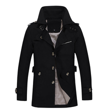Men's jackets Spring and Autumn Men's In the long section jackets Slim Cotton Le