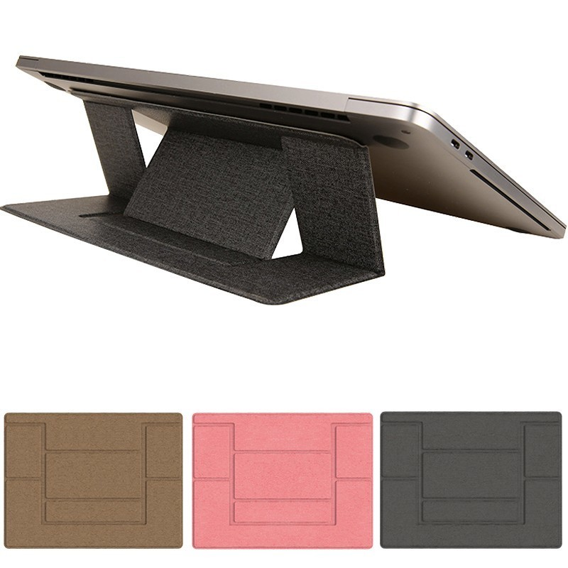 Ultra Thin PU Leather Laptop Holder Table Stand Computer Notebook Stand for Macbook iPad Tablet Holder for Huawei Samsung Tablet