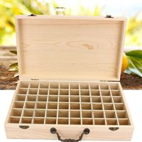 Essential Oils Wooden Box Jewelry Organizer Storage Case Decorative Boxes For Home Decoration Crafts Gift 60 Slots