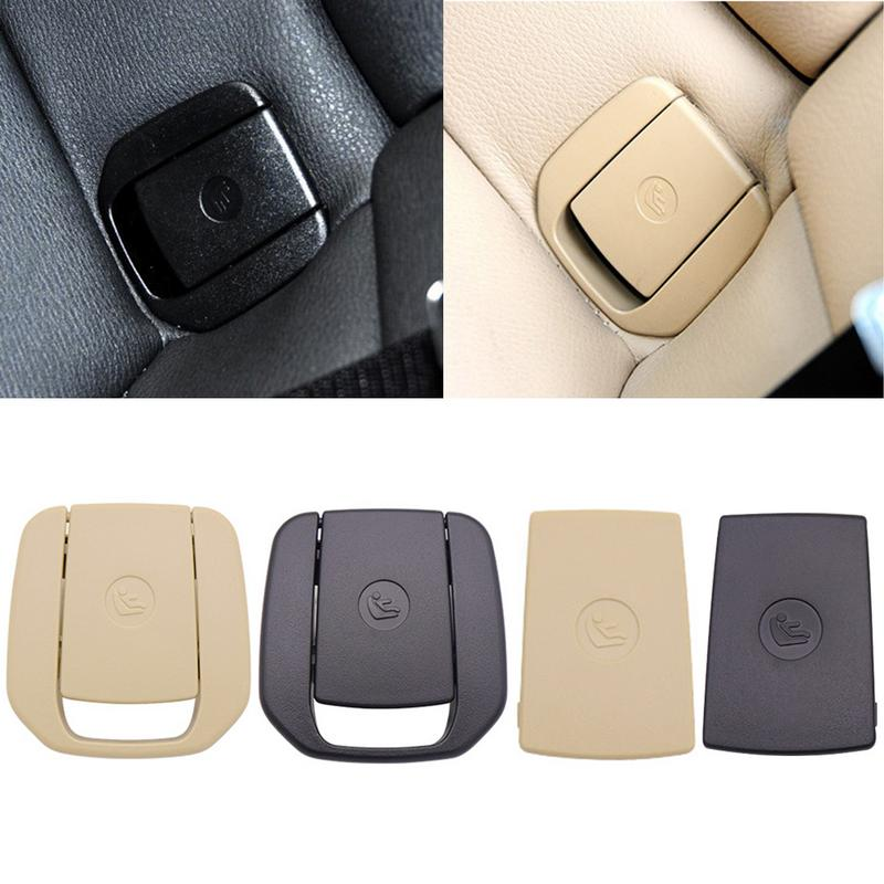 Car Rear Seat Children Seat Safety Hook ISOFIX Cover Child Restraint For BMW X1 E84 3 Series E90 F30 1 Series E87 Black Beige image