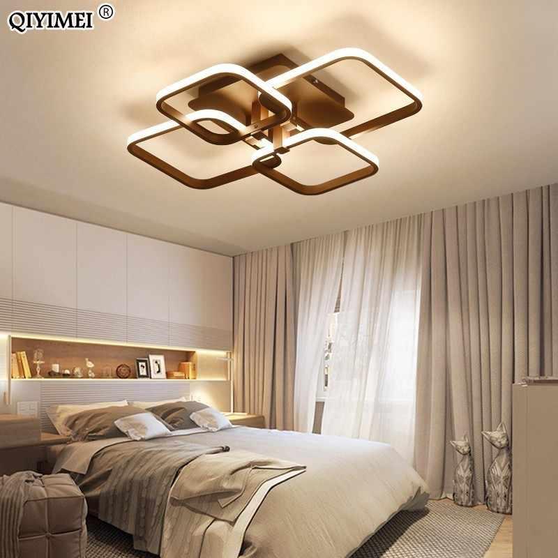 Квадратные Кольца Circel потолочные светильники для гостиной спальни дома AC85-265V современные светодиодные потолочные светильники lustre plafonnier