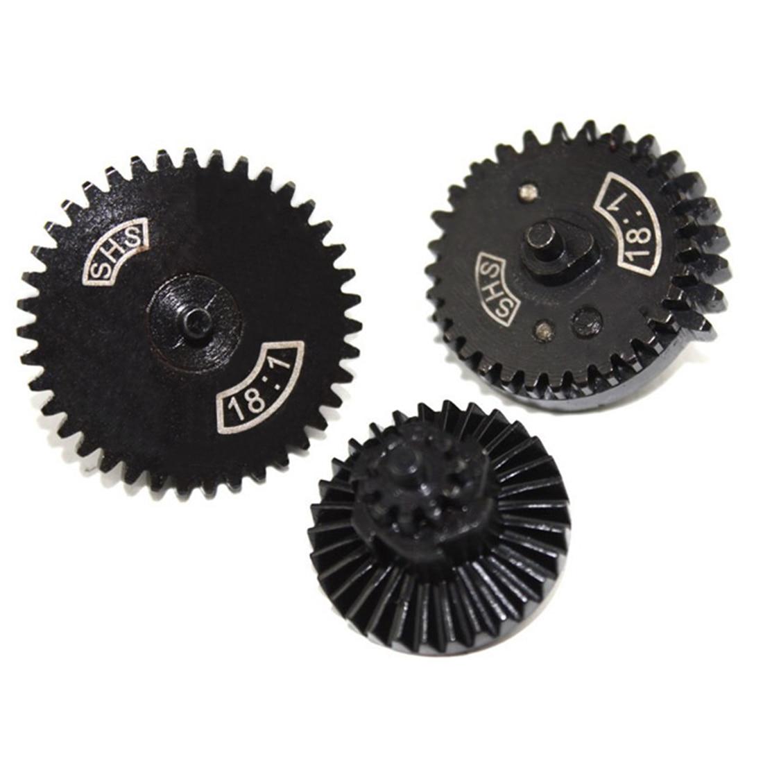 SHS 18/1 Straight Tooth Steel Gear Set for JM Gen.8/for JM Gen.9 Water Gel Beads Blaster Modificaton and Upgrade Black