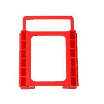 New Arrival 2 5 do 3 5 cala SSD do HDD bezśrubowy adapter do montażu wspornika uchwyt dysku twardego adapter do montażu wspornika czerwony tanie i dobre opinie 13 3*10*1 5cm centechia 2 5 Drive to 3 5