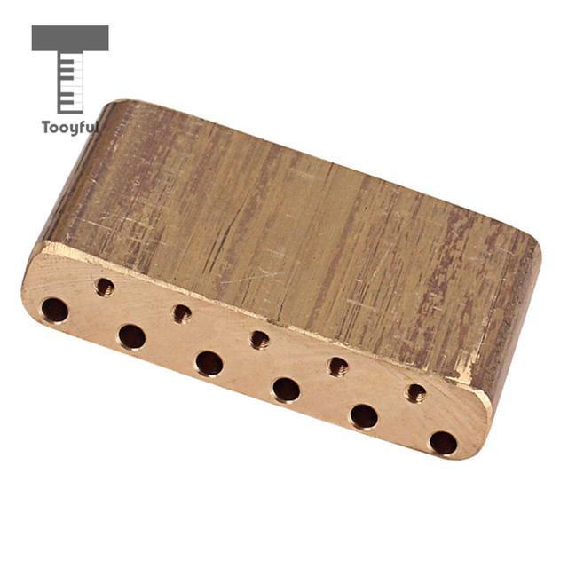 Tooyful Finest Brass Tremolo Block Sustain Bridge for Strat Electric Guitar Replacement Parts