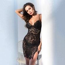MUXU sexy transparent black lace see through dress mini vestidos ukraine woman clothes sukienki suspender backless