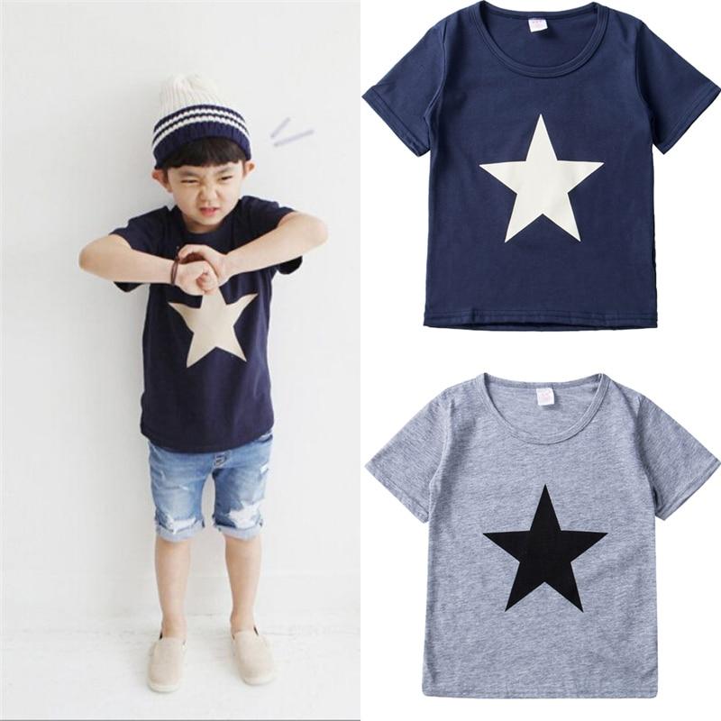 Shirt Children Blouse Short-Sleeve Toddler Baby-Boys Kids Cotton Summer New Casual Tops