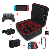 Hard EVA Game Travel Deluxe System Case for Nintendo Switch Console Pro Controller Charging Dock With Accessory Storage Bag