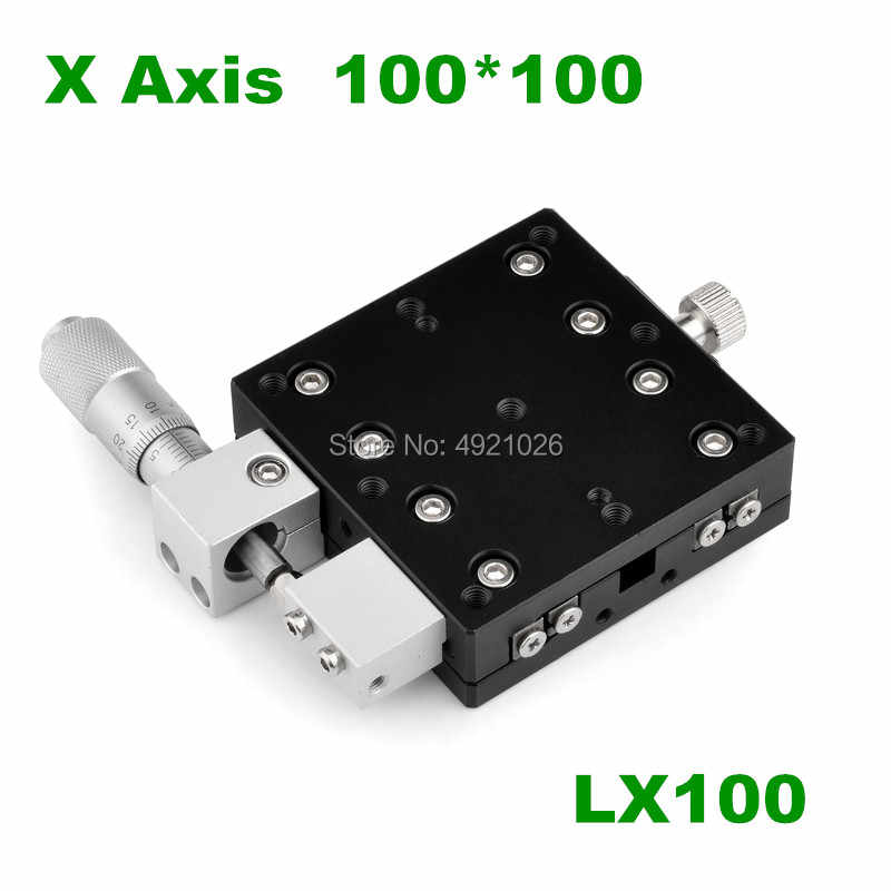CHUNSHENN Trimming Platform Linear Stage Roller Guide 100 100mm SEMX100-AS Manual Slide Table Trimming Platform Suitable for laboratory precision inspection mechanical equipment movement Industrial