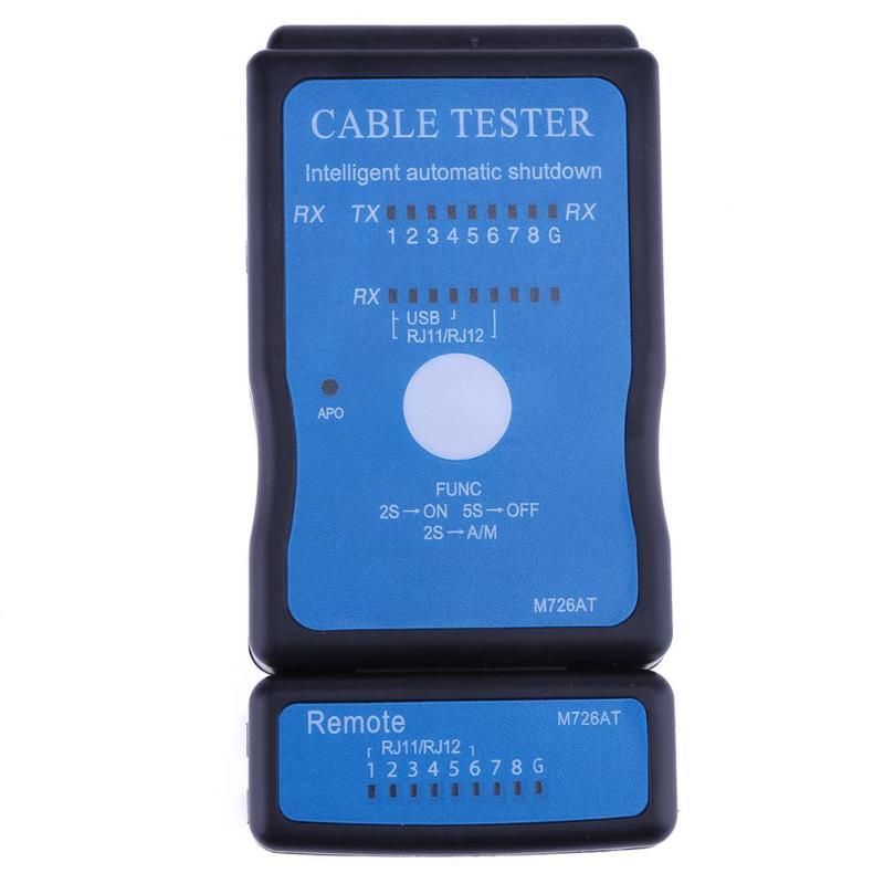 Portable Multi-Modular Ethernet Network LAN RJ-45 Cat5 RJ11 RJ12 USB BNC LAN Network Phone Cable Tester Mete Outside Remote