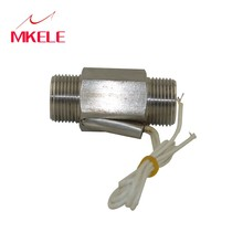 MKELE 110v Water Flow Sensor Switch Thread Stainless Steel Piston Magnetic Liquid MK-PFS5 Level Controller