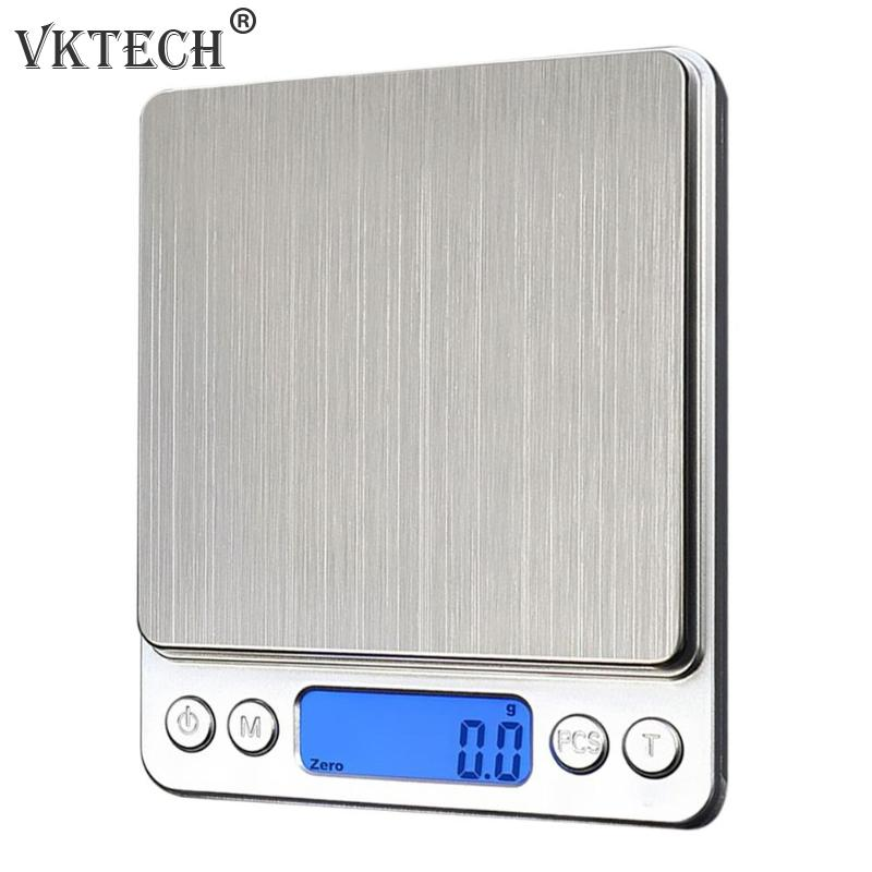 1000g/ 0.1g LCD Electronic Kitchen Scales Stainless Steel Digital Precision Jewelry Scales Weighing Device With Backlight