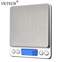1000g/0.1g LCD elektroniczna waga kuchenna ze stali nierdzewnej cyfrowe precyzyjne wagi do biżuterii urządzenie ważące z podświetleniem w Wagi kuchenne od Dom i ogród na
