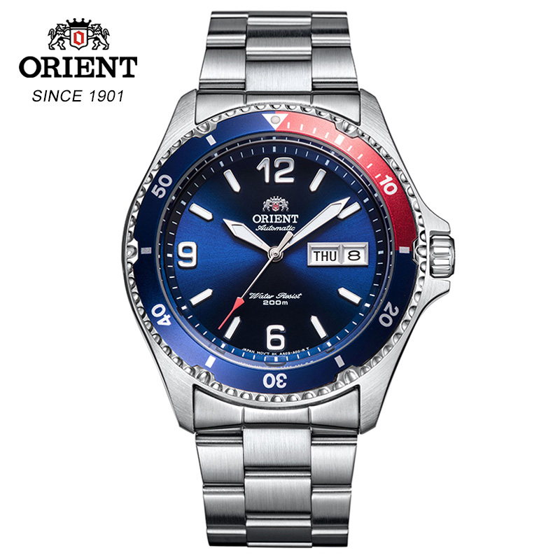 100% Original Orient Men's Watch 200M Water Resistance Sports Diver/Swim Watch Stainless Steel Luminous Hands Chapter-in Sports Watches from Watches    1