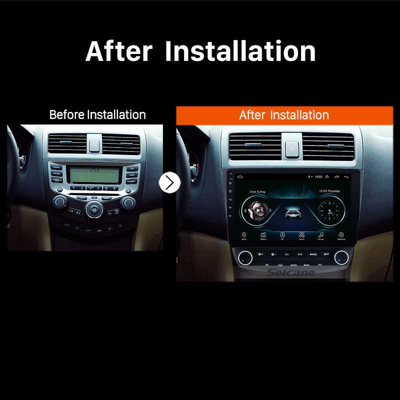 Seicane 10.1 android 9.1 2din quad core rádio do carro gps multimídia player unidade de cabeça para honda accord 7 2003 2004 2005 2006 2007