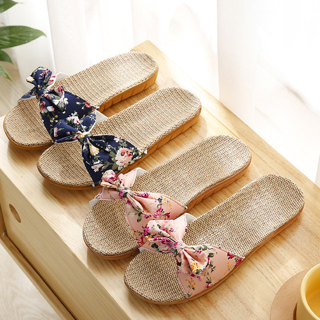 Women's Breathable Linen Casual Slippers