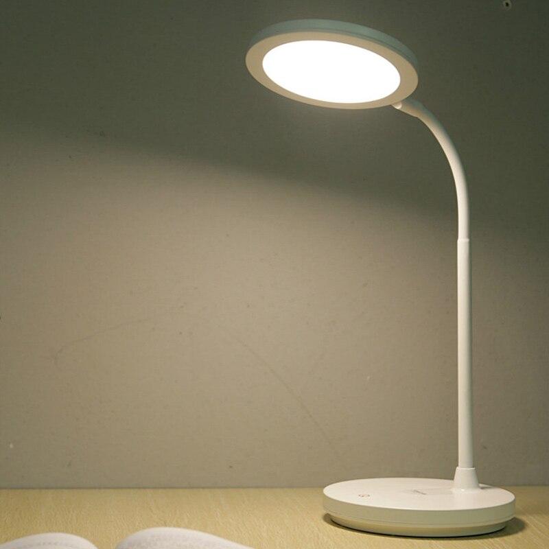 T403 gradation lampes de table LED chambre chevet lecture Protection des yeux lumière USB charge éclairage intérieur lampe de bureau pour la décoration
