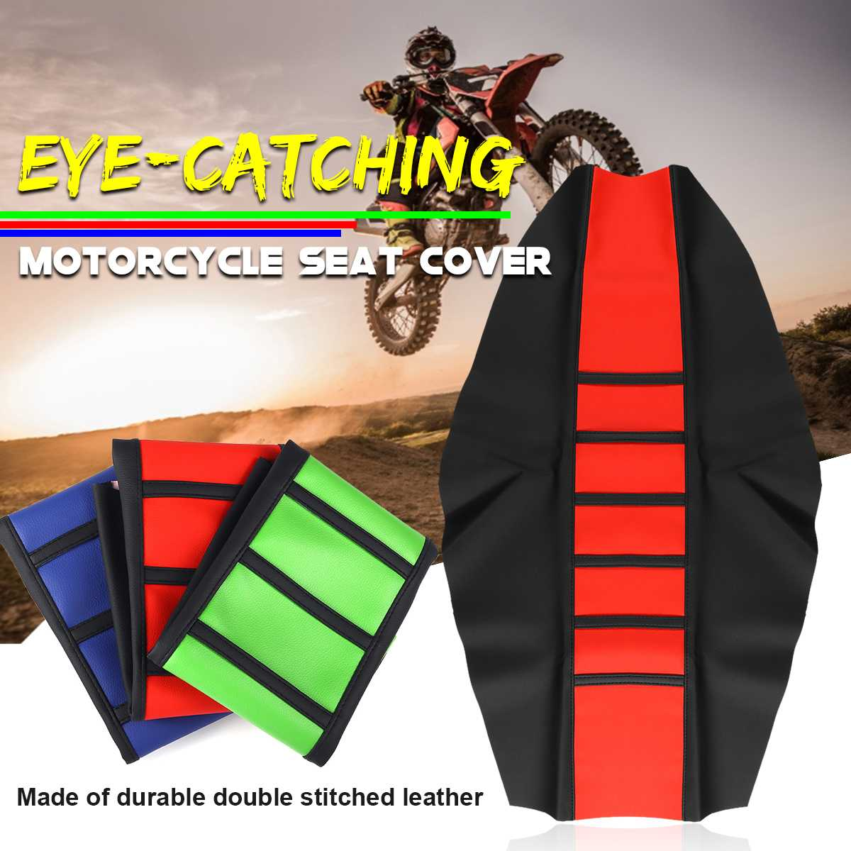 Seat-Cover Wear-Resistant Motorcycles Dirt-Bike Dust-Proof Vinyl-Material Off-Road-Gripper