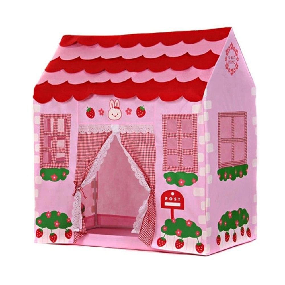 Playhouse fille ville maison enfants Secret jardin rose tente de jeu grand cadeau