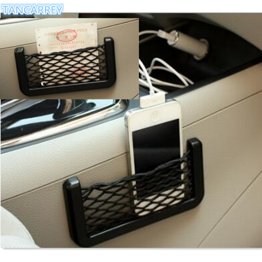 Car storage elastic mesh bag for ix35 skoda yeti lancer 9 <font><b>volvo</b></font> xc90 subaru forester honda fit kia rio 2017 Accessories image