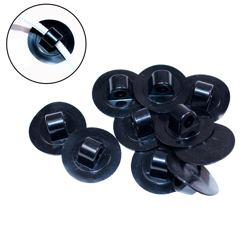 20 PCS Plastic Rope Buckle Hook Button Of Inflatable Boat Fishing Boat Accessory Safe Drag Rope Buckle Hook Button Accessory