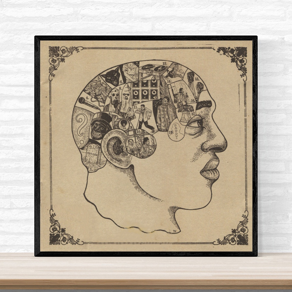 The Roots Phrenology Poster Album Music Hip Hop Rap Jazz Cover Poster Print on Canvas Home Decor Wall Art No Frame image