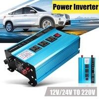 Напряжение трансформатор DC12/24 V в автомобиле AC220V пик 3000 W солнечный Мощность инвертор синусоида USB цифровой преобразователь Дисплей защиты