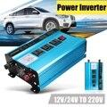 Transformador de tensión DC12/24 V coche AC220V pico de 3000 W inversor de energía Solar de onda sinusoidal convertidor USB Digital pantalla proteger