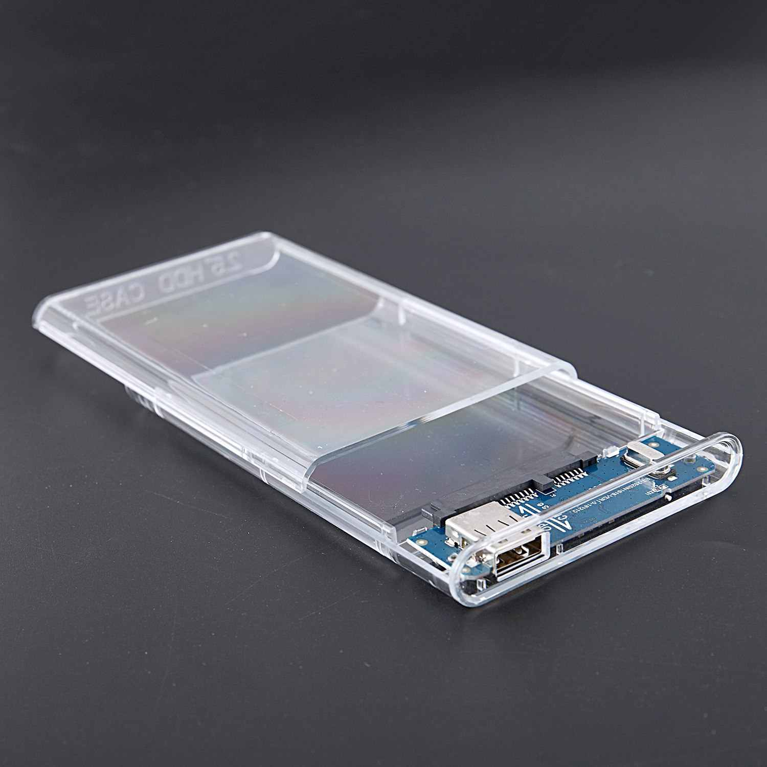 External Hard Drive Enclosure Usb 2.0 To Sata Ssd And Hdd Case Support 4Tb 2.5-Inch Drive Compatible Clear Enclosure Disk Case