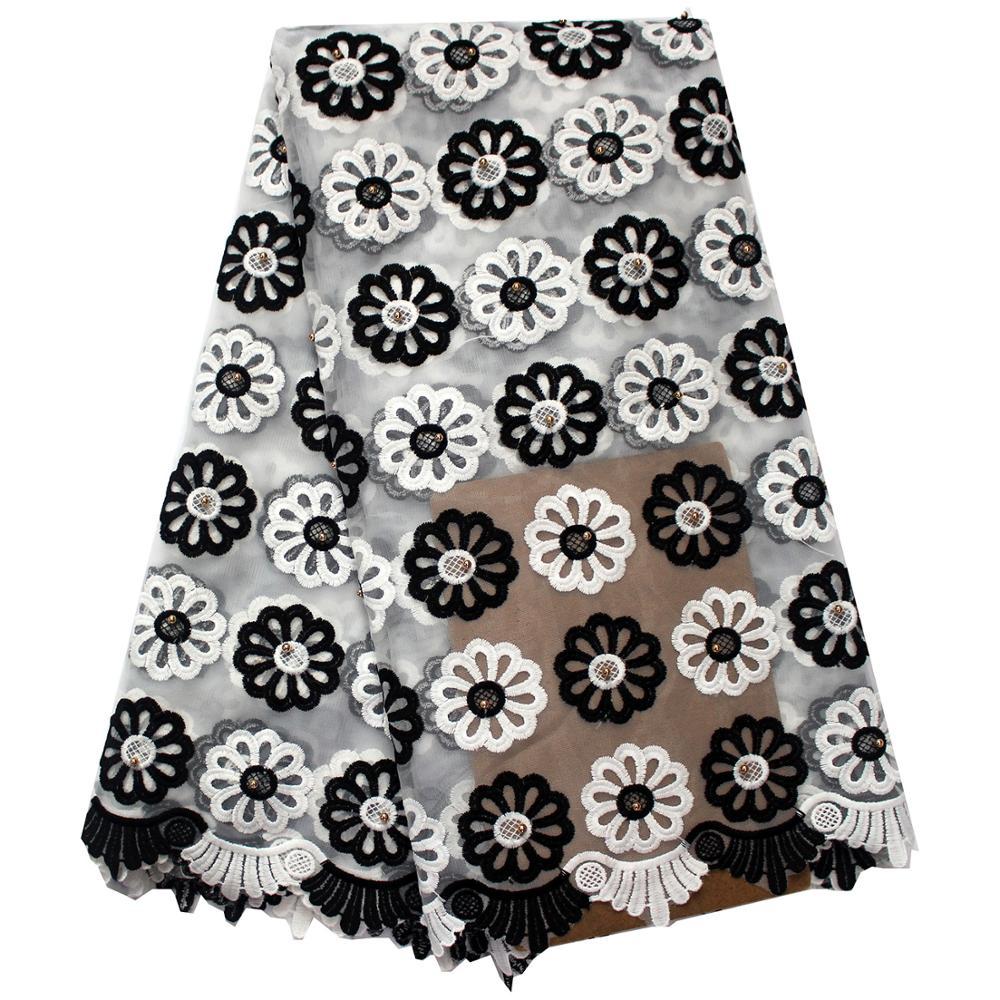 สีขาวและสีดำแอฟริกันลูกไม้ฝรั่งเศสผ้าล่าสุดคุณภาพสูงแอฟริกัน Tull ลูกไม้ผ้าสำหรับชุดปาร์ตี้ออกแบบใหม่ลูกปัดผ้า-ใน ลูกไม้ จาก บ้านและสวน บน AliExpress - 11.11_สิบเอ็ด สิบเอ็ดวันคนโสด 1