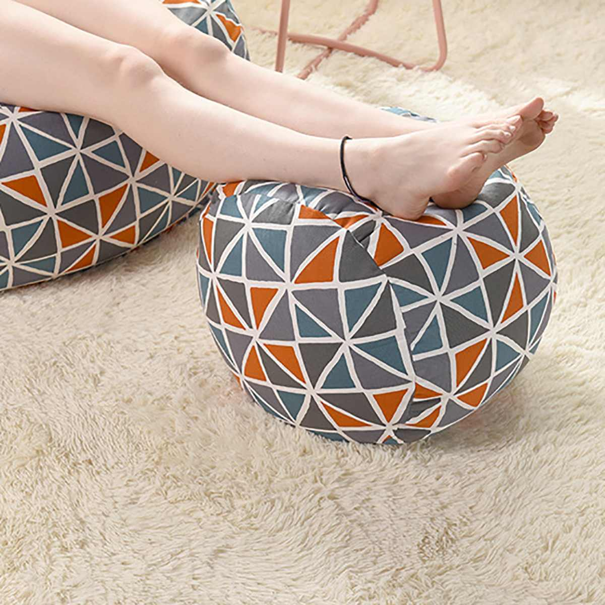 Nenhum enchimento Tampa Redonda Pequena Sofás Beanbag Espreguiçadeira Cadeira Assento Da Cadeira Cadeira do Sofá Cotton Linen Caso À Prova D' Água Para Jogos de Cama de Feijão saco