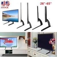 Universal de Tela Plana Tela Plana LCD Plasma TV Stand Ajustável Base de Pedestal de Mesa Desktop Montar TV LCD LED 40|Acessórios de móveis| |  -