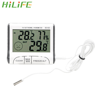 HILIFE Weather Station Indoor Outdoor Digital LCD Thermometer Hygrometer Mini Temperature Humidity Meter Sensor Tester Alarm