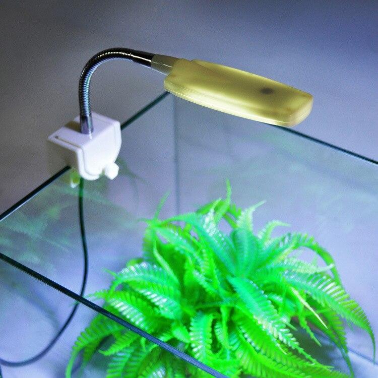 1 шт. мини аквариумный светодиодный светильник, искаженная настольная лампа, гибкий люмен, синий питомец, домашний аксессуар для домашних животных, светильник для аквариума s