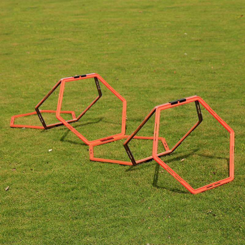 1pc/6pcs Football Trainer Ladders Hexagonal Agility Ring Training Ring Physical Training Ring \Hurdles Speed Rings