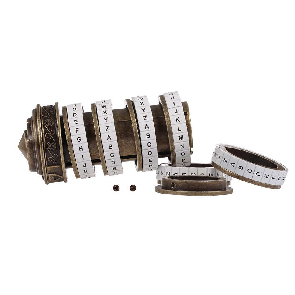 Код да Винчи игрушка металлические замки-криптекс свадебные подарки кольцо подарок ко Дню Святого Валентина письмо пароль побега камерный реквизит