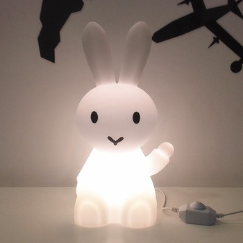 36cm Bunny Hare Rabbit Night Light Children Kids Baby Christmas Birthday Gift Toy Living Room Bedside Desk Dimmable Table Lamp beiaidi big rabbit bear dimmable led night light cartoon bedroom desk table lamp for baby children kids birthday christmas gift