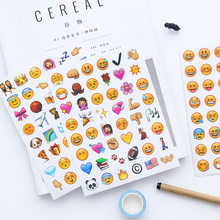 Classic Emoji Smile Face Stickers for Notebook Diary Albums Message Sticky Notes School Office Stationery Memo Bts Tools(China)